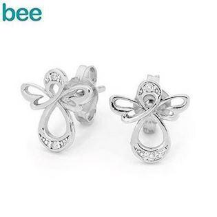 Bee Jewelry Angel 925 Sterling Sølv Ørestikker Blank, model 35594CZ